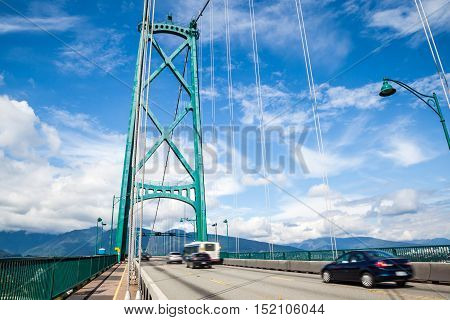 Lions Gate Bridge At Stanley Park In Vancouver