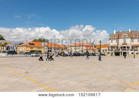 Square In Front Of A Famous Beach In Cascais