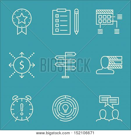 Set Of Project Management Icons On Money, Personal Skills And Innovation Topics. Editable Vector Ill
