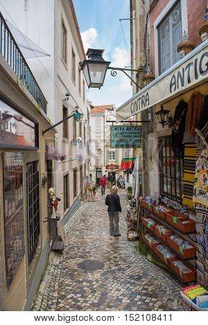 Old Street And Houses In Sintra, Portugal