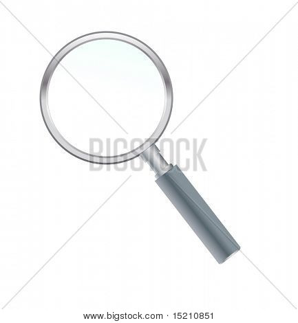 vector magnify glass isolated on white