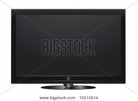 vector plasma lcd tv on white