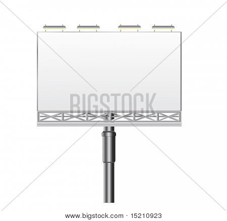 vector outdoor billboard isolated on white