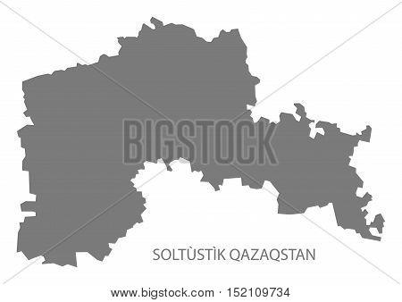Soltùstìk Qazaqstan Kazakhstan Map grey illustration high res
