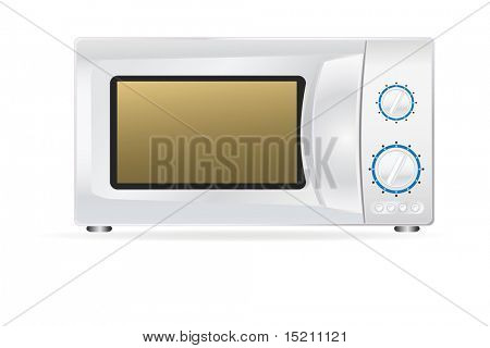 vector microwave oven isolated on white