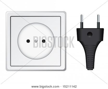 vector plastic socket isolated on white