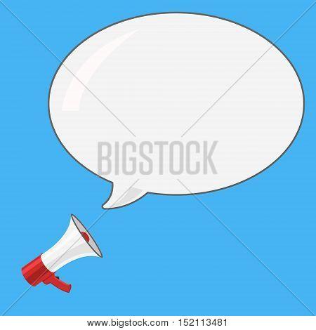 Loudspeaker Icon. Megaphone Sign. Announcement Symbol