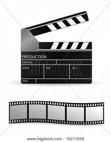 Vektor-Schindeln und Film-Streifen