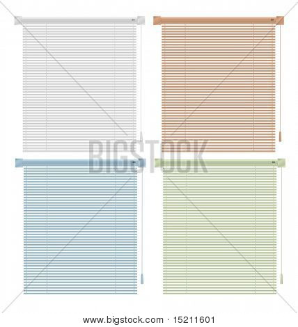 vector cortinas coloridas isoladas no branco
