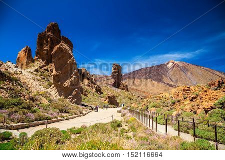 beautiful Teide National Park in Tenerife Canary Islands Spain