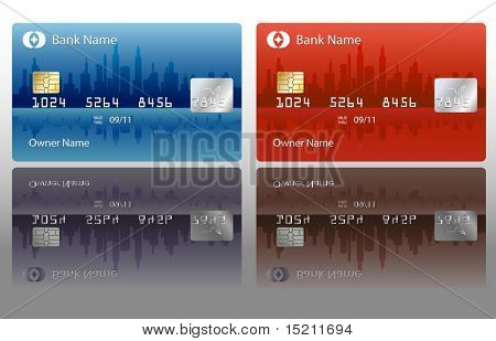 vector credit card design