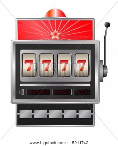 vector slot machine isolated on white