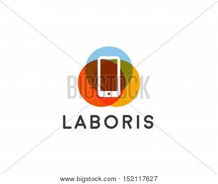 Mobile phone shop Logo design vector template. Smart phone, Global, Social, E-reading Education logotype. On-line store. Application icon concept