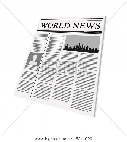 vector newspaper on white background