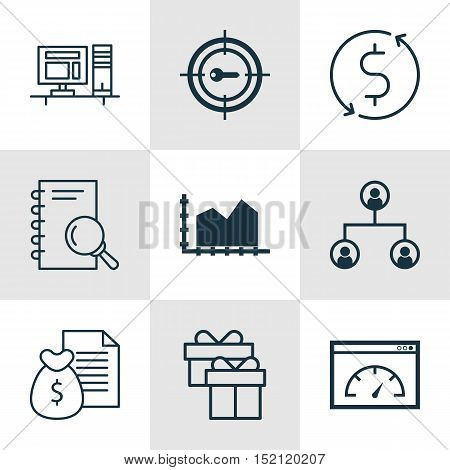 Set Of 9 Universal Editable Icons For Human Resources, Advertising And Statistics Topics. Includes I