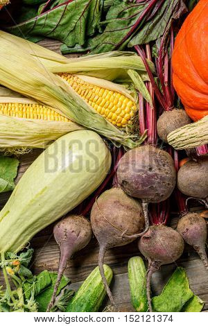 Overhead view of a vegetables