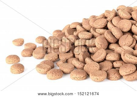 Pile of ginger nuts. Typical Dutch candy for Sinterklaas event in december