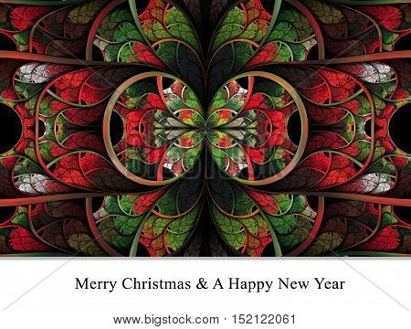 Merry Christmas And A Happy New Year Background Template