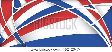 Abstract background with colors of Paraguay flag - Vector image
