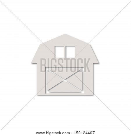 Simple Vector Farmhouse icon on white background