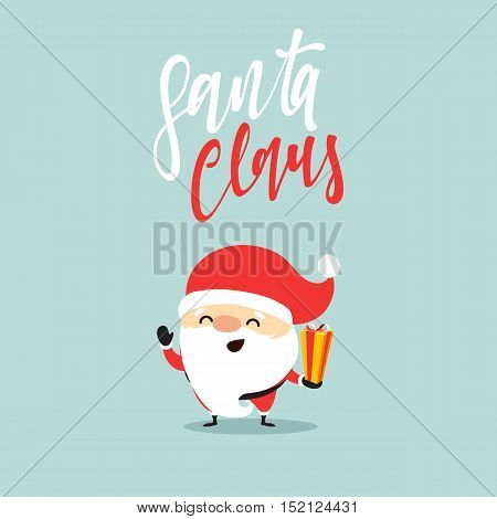 Santa Claus of Christmas. Funny cartoon character with different emotions. Santa Claus ready new year.