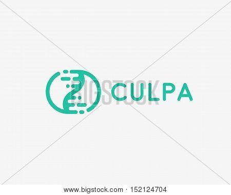 Abstract biotechnology dna logotype. Medicine, science, laboratory, modern logo icon. Technology modern yin yang vector symbol