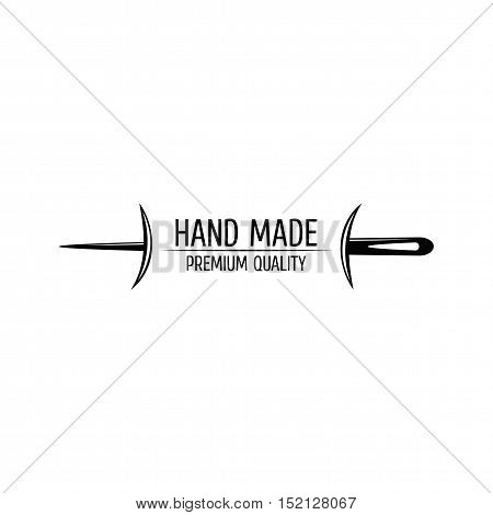 Needle. Sewing Label. Badge Tailor Vector Illustration
