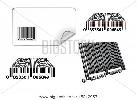 vector bar code set