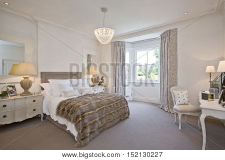 luxurious bedroom with stylish decor