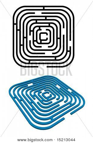 vector maze 2d and 3d version
