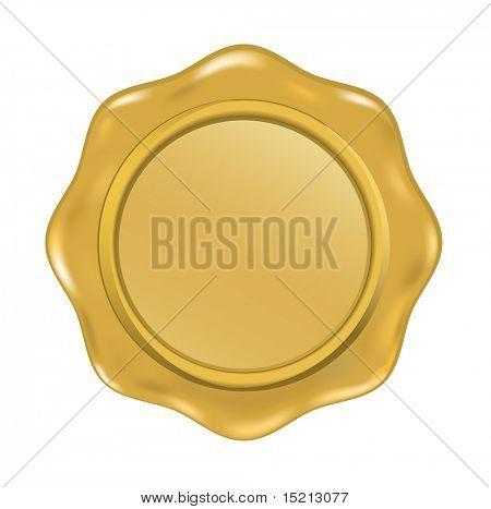 vector golden wax seal
