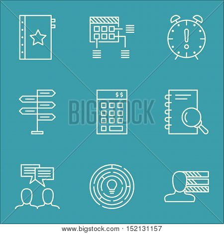 Set Of Project Management Icons On Innovation, Discussion And Opportunity Topics. Editable Vector Il