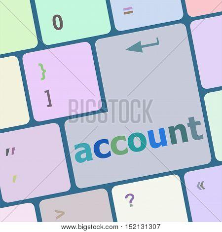 white account enter key, computer keyboard keys