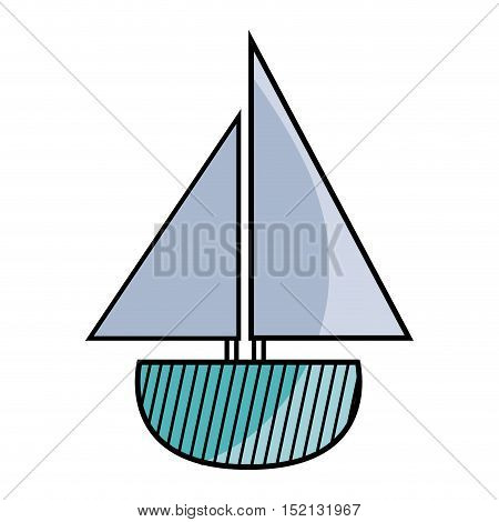 sail boat toy over white background. vector illustration