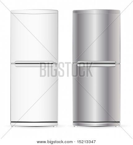 vector modern fridge