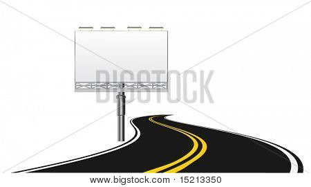 vector road and billboard