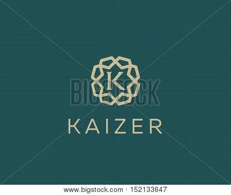 Premium letter K logo icon vector design. Luxury jewelry frame gem edge logotype. Print monogram initials stamp sign symbol