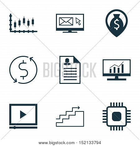 Set Of 9 Universal Editable Icons For Airport, Advertising And Project Management Topics. Includes I