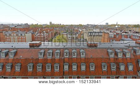 View Over Kensington and Chelsea Roofs in London