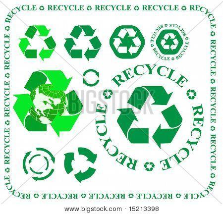 Vektor recycling Symbole