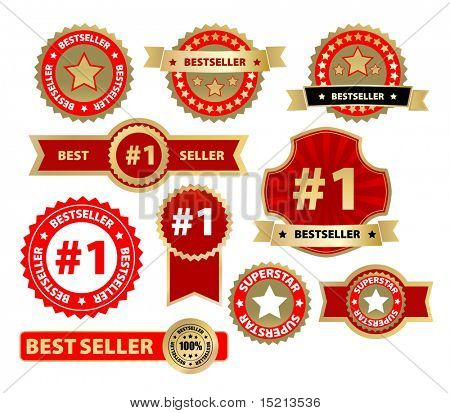 vector labels - bestseller