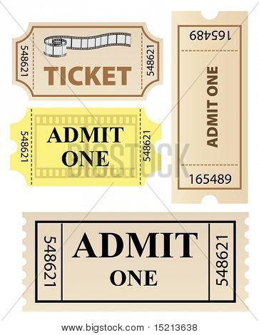 vector tickets set