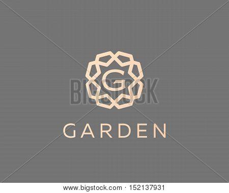 Premium letter G logo icon vector design. Luxury jewelry frame gem edge logotype. Print monogram initials stamp sign symbol