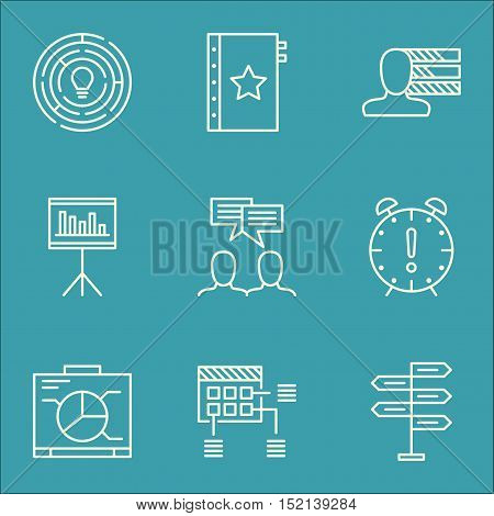 Set Of Project Management Icons On Warranty, Opportunity And Innovation Topics. Editable Vector Illu