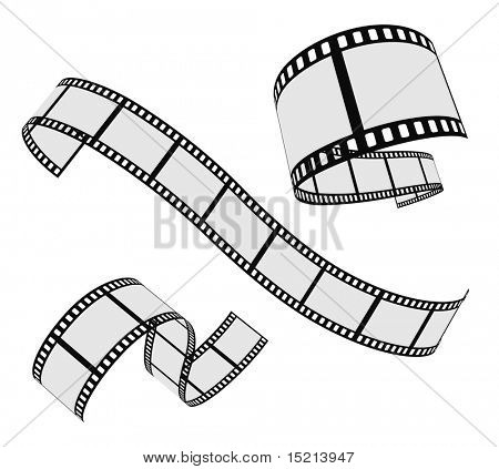 vector film strip set