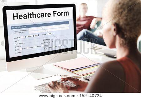 Health Insurance Healthcare Form Concept