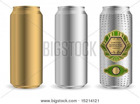 vector beer can