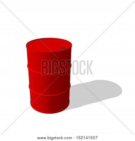 3d barrel. Isolated on white background. Vector illustration.