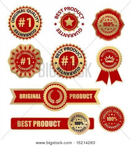 vector labels set - best product