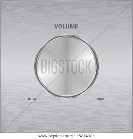 vector metal volume knob